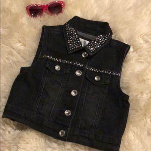 Cute Black Jean Vest.